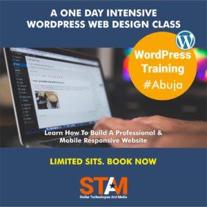 A ONE DAY INTENSIVE WORDPRESS WEB DESIGN CLASS