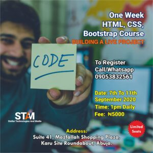 HTML, CSS, Bootstrap Training Abuja
